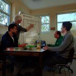 Intensiver Austausch bei der Trainersitzung